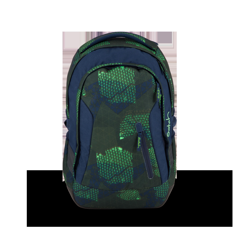 NEU satch pack Schulrucksack Blue Triangle